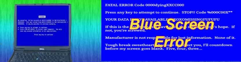 Laptop Blue Screen Error of Fatal Error